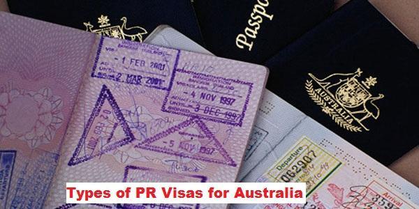 Types of PR Visas for Australia