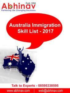 Australia Immigration Skill List