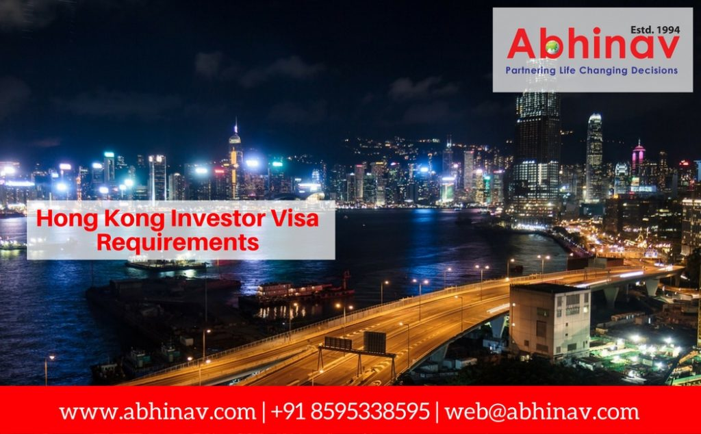 Hong Kong Investor Visa Requirements
