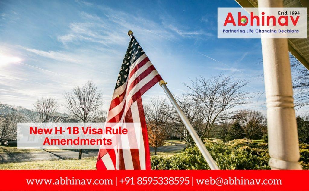 New H-1B Visa Rule Amendments
