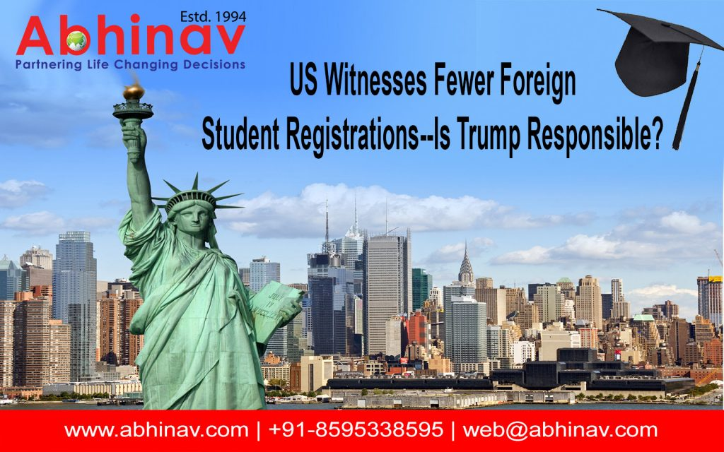 US-Witnesses-Fewer-Foreign-Student-Registrations--Is-Trump-Responsible